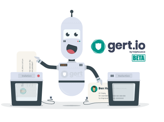 gert.io by helphouse.io redact and delete tickets in zendesk automatically robot